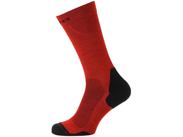 Odlo Ceramiwarm Socks long fiery red-black